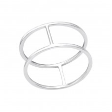 Double Line - 925 Sterling Silver Basic Rings A4S33821