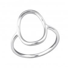 Oval - 925 Sterling Silver Basic Rings A4S33825