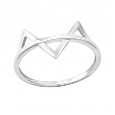 Geometric - 925 Sterling Silver Basic Rings A4S33826