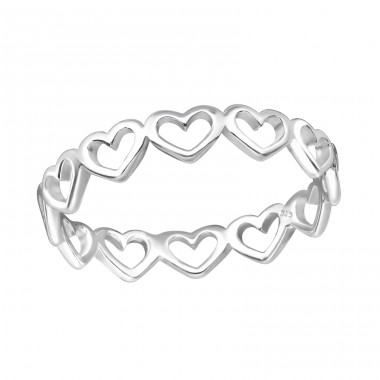 Heart - 925 Sterling Silver Basic Rings A4S33827