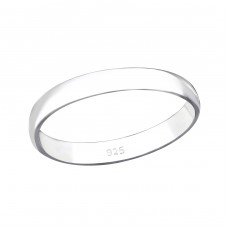 3mm Band - 925 Sterling Silver Basic Rings A4S34073
