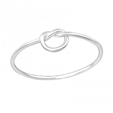 Knot - 925 Sterling Silver Basic Rings A4S35454
