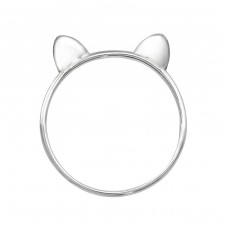 Cat - 925 Sterling Silver Basic Rings A4S35667