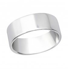 7mm Band - 925 Sterling Silver Basic Rings A4S35813