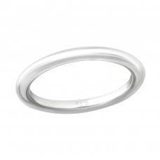 2.5Mm Band - 925 Sterling Silver Basic Rings A4S36153