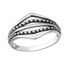 Oxidized - 925 Sterling Silver Basic Rings A4S36157