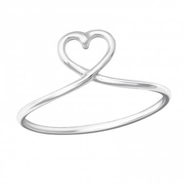 Heart - 925 Sterling Silver Basic Rings A4S36159
