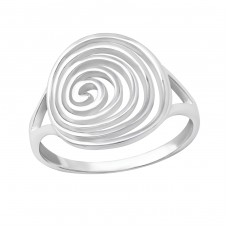Spiral - 925 Sterling Silver Basic Rings A4S36160