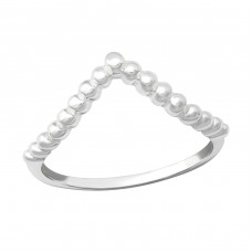 V Shape - 925 Sterling Silver Basic Rings A4S36161