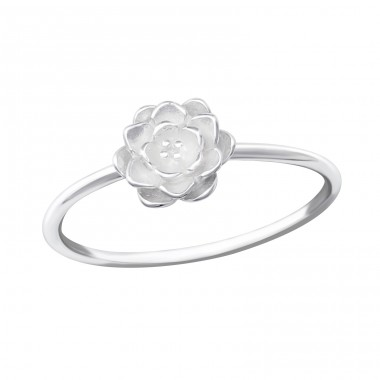 Flower - 925 Sterling Silver Basic Rings A4S36162