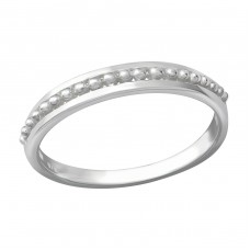 Patterned - 925 Sterling Silver Basic Rings A4S36216