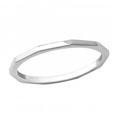Faceted - 925 Sterling Silver Basic Rings A4S36217