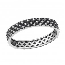 Patterned - 925 Sterling Silver Basic Rings A4S36385