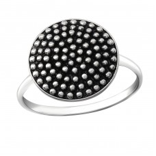 Round - 925 Sterling Silver Basic Rings A4S36388