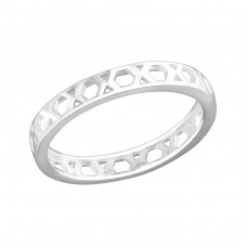 Geometric - 925 Sterling Silver Basic Rings A4S36404