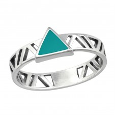 Triangle - 925 Sterling Silver Basic Rings A4S36408