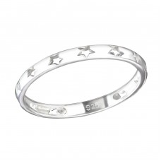 Star - 925 Sterling Silver Basic Rings A4S36531
