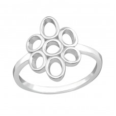Flower - 925 Sterling Silver Basic Rings A4S36595