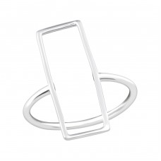 Rectangle - 925 Sterling Silver Basic Rings A4S36755