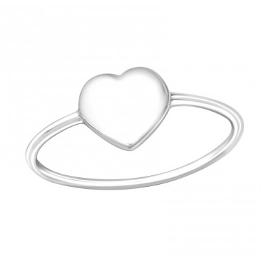 Heart - 925 Sterling Silver Basic Rings A4S36756