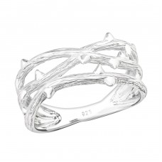Branch - 925 Sterling Silver Basic Rings A4S36757