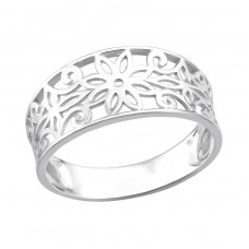 Flower - 925 Sterling Silver Basic Rings A4S36760