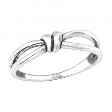 Knot - 925 Sterling Silver Basic Rings A4S36761