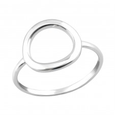 Circle - 925 Sterling Silver Basic Rings A4S36765