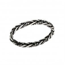Twisted - 925 Sterling Silver Basic Rings A4S36930