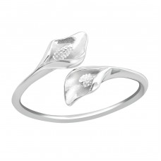 Calla Lily Flower - 925 Sterling Silver Basic Rings A4S37190