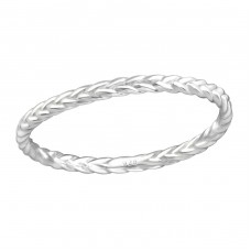 Braid - 925 Sterling Silver Basic Rings A4S37191