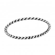 Twisted - 925 Sterling Silver Basic Rings A4S37227