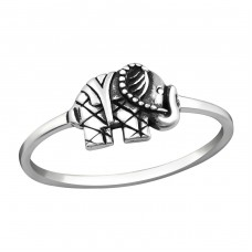 Elephant - 925 Sterling Silver Basic Rings A4S37228