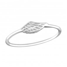 Wing - 925 Sterling Silver Basic Rings A4S37229