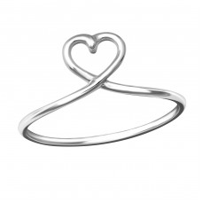 Heart - 925 Sterling Silver Basic Rings A4S37289