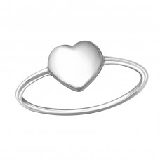 Heart - 925 Sterling Silver Basic Rings A4S37390