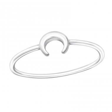 Moon - 925 Sterling Silver Basic Rings A4S37391
