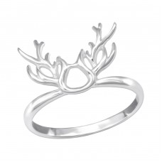 Antler - 925 Sterling Silver Basic Rings A4S37639