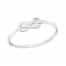 Knot - 925 Sterling Silver Basic Rings A4S37850