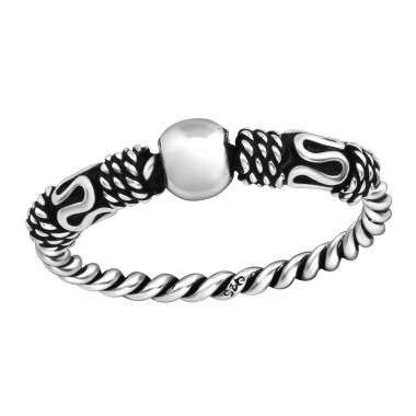 Bali - 925 Sterling Silver Basic Rings A4S37860