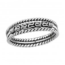 Bali - 925 Sterling Silver Basic Rings A4S37945