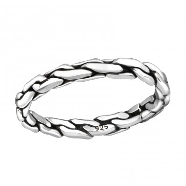 Chain - 925 Sterling Silver Basic Rings A4S37947