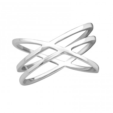 Intertwining - 925 Sterling Silver Basic Rings A4S37987