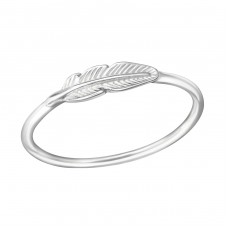Feather - 925 Sterling Silver Basic Rings A4S38130