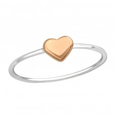 Heart - 925 Sterling Silver Basic Rings A4S38314