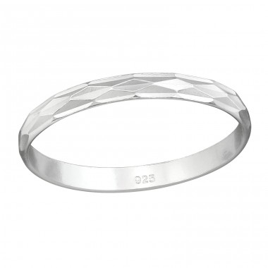 Pattened - 925 Sterling Silver Basic Rings A4S38363