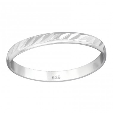 Pattened - 925 Sterling Silver Basic Rings A4S38364