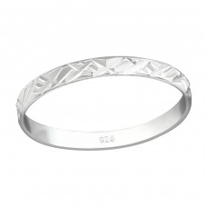 Pattened - 925 Sterling Silver Basic Rings A4S38365