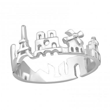 Paris - 925 Sterling Silver Basic Rings A4S38414