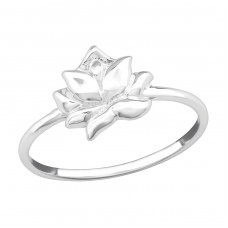 Lotus - 925 Sterling Silver Basic Rings A4S38482